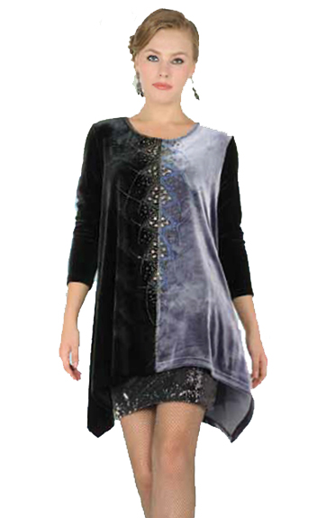 Aris A Jeweled Velvet Tunic