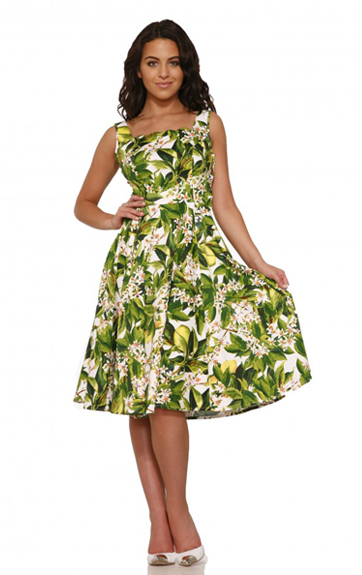 Hearts and Roses Lemon Dress