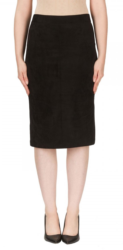Joseph Ribkoff Faux Suede Pencil Skirt