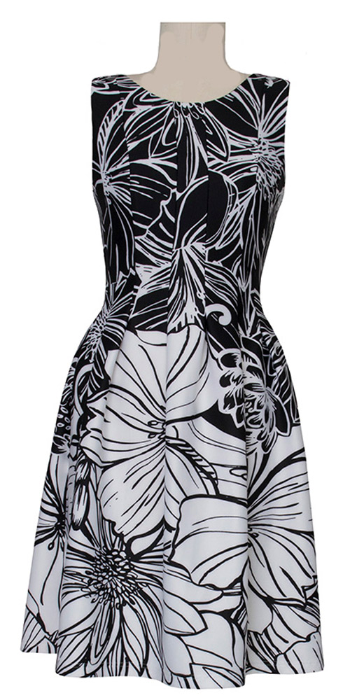 Joseph Ribkoff Black and White Floral Dress