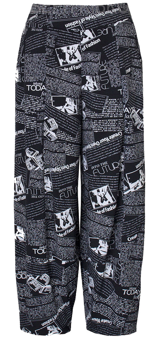 Joseph Ribkoff Newsprint Pants