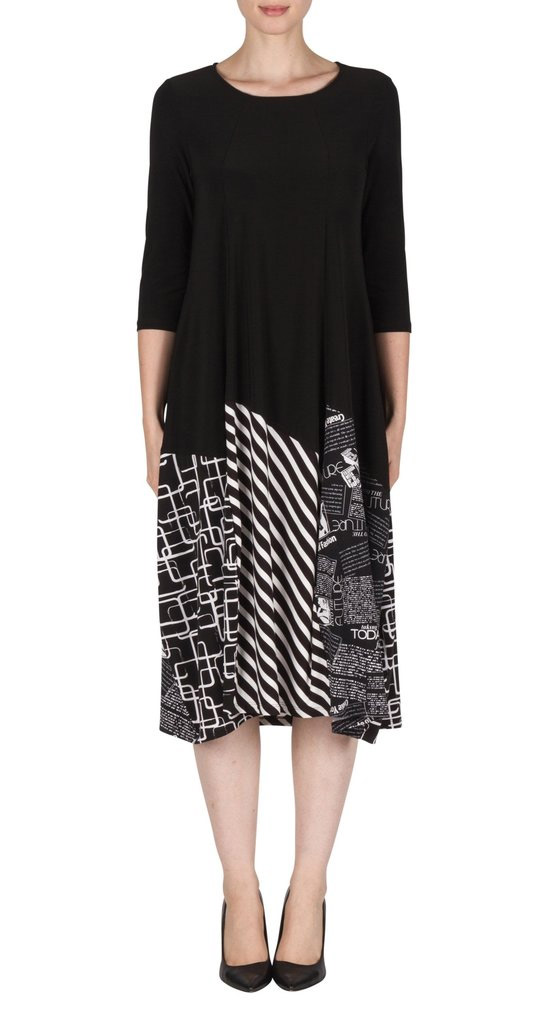 Joseph Ribkoff Print Ballon Hem Dress