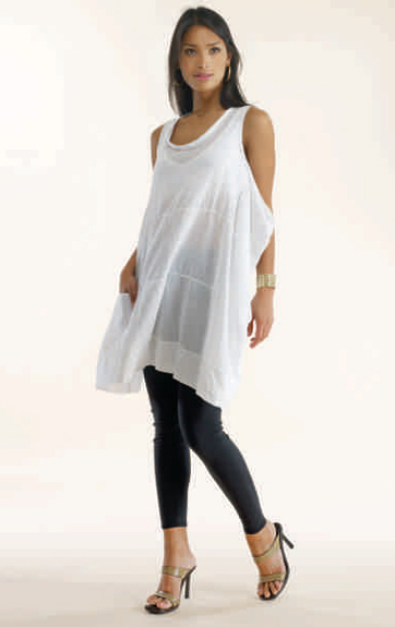 Luna Luz Garment Dyed Sleeveless Swing Top
