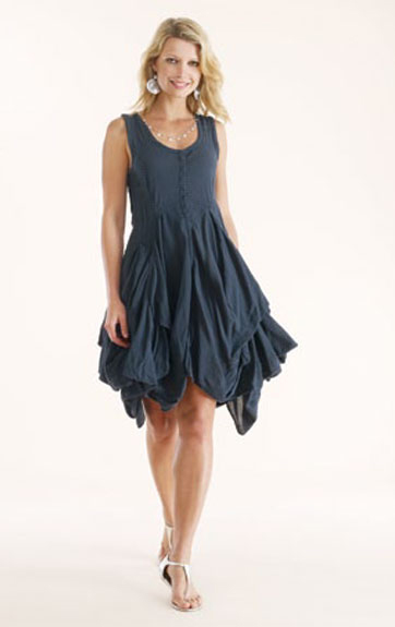 Luna Luz Garment Dyed Cotton and Rayon Tank Dress
