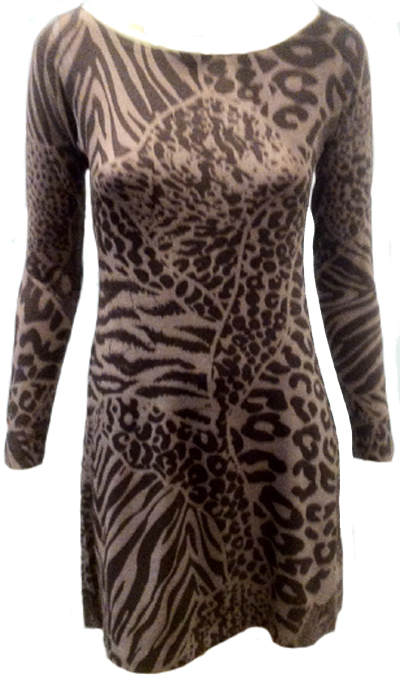 Nally & Millie Mixed Animal Print Dress