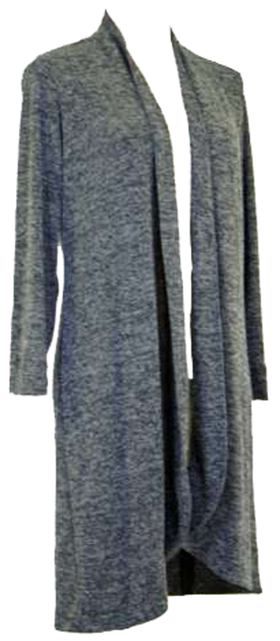 Nally & Millie Heathered Open Cardigan