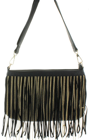 Sondra Roberts Leather and Chain Cross Body
