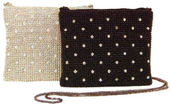 Whiting & Davis Bubble Mesh with Crystals Dance Bag