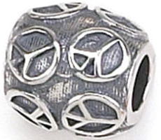 Zable Peace Sign Bead