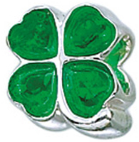4-Leaf Clover w/ Green Hearts